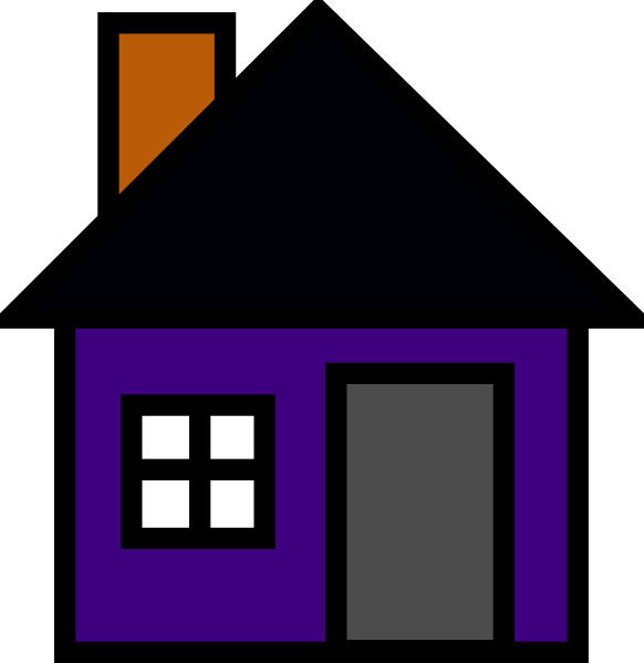 Purple House Clip Art at Clker.com.