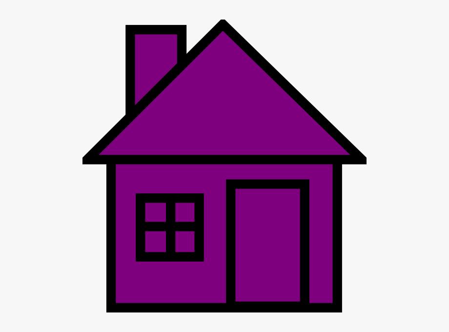 House Clipart Purple.