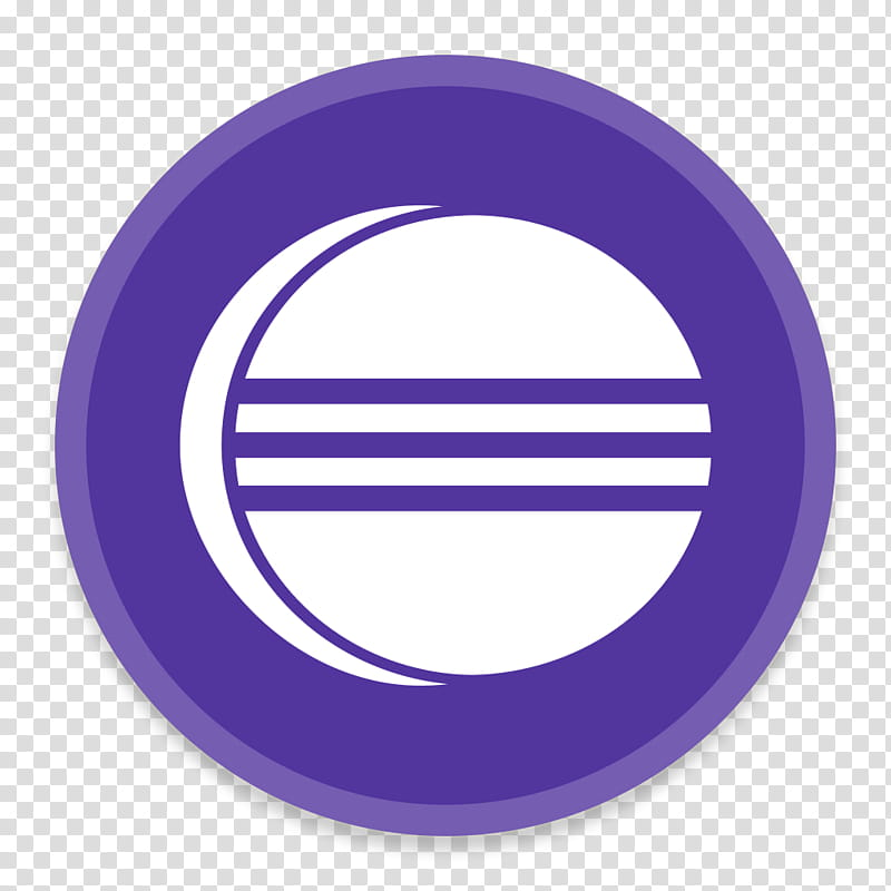 Button UI App Two, round white and purple icon r transparent.