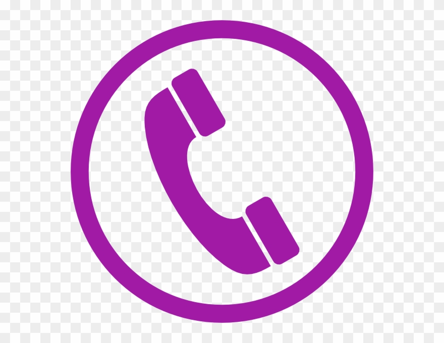 Purple Phone Icon Png Clipart (#1083388).