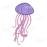 Jellyfish Clipart 1198.