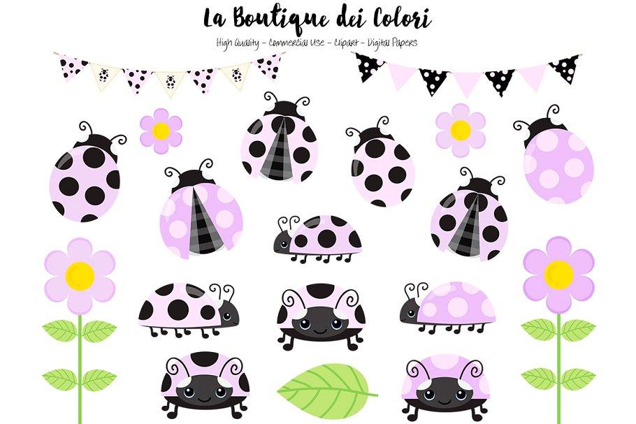 Purple Ladybug Clip art ~ Illustrations ~ Creative Market.