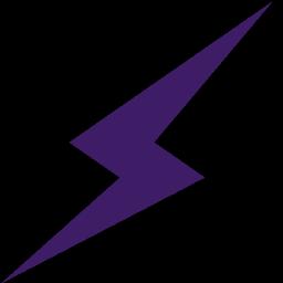 Purple Lightning Bolt Clip Art.