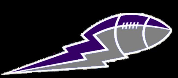 Purple lightning clipart.