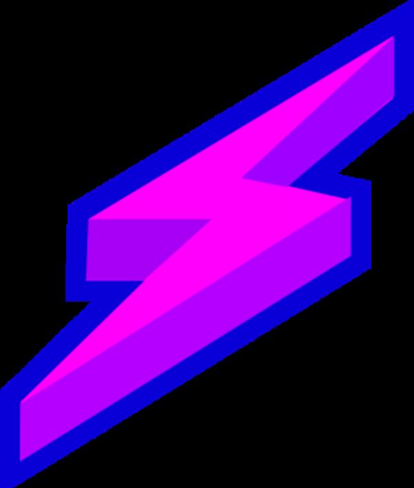 Lightning bolt purple lighting free clipart images image 3.