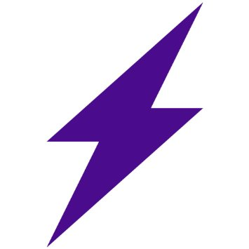 Purple Lightning Bolt Clip Art.