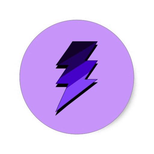 Purple Lighting Bolt.