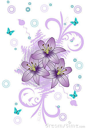 Purple Lily Royalty Free Stock Images.