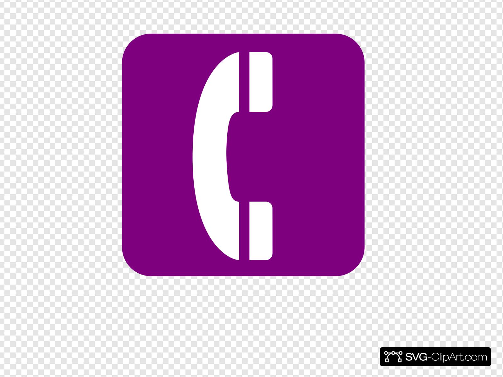 Purple Phone Logo Clip art, Icon and SVG.