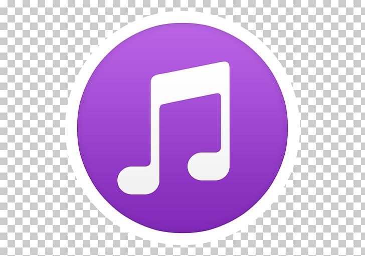 Purple symbol violet, iTunes, music application logo PNG.