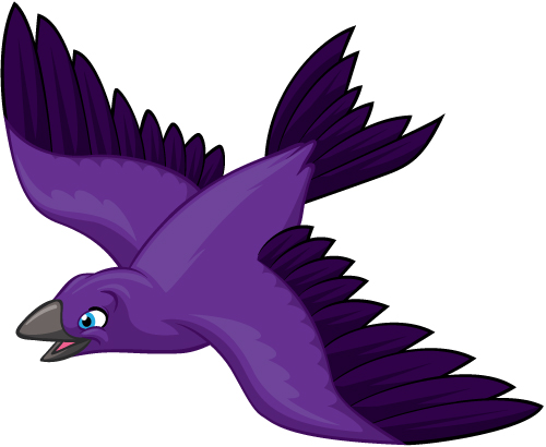 Purple Martin Bird.