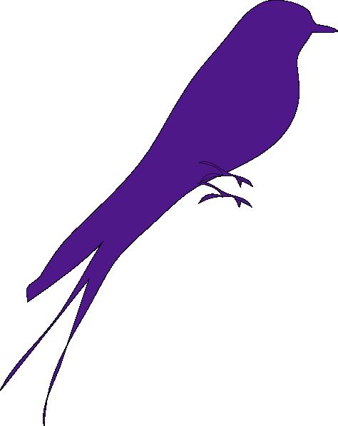 Big Purple Bird Clip art.