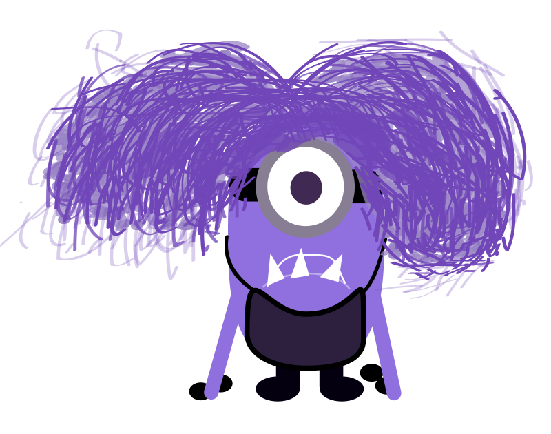 Free Clipart: Purple Minion.