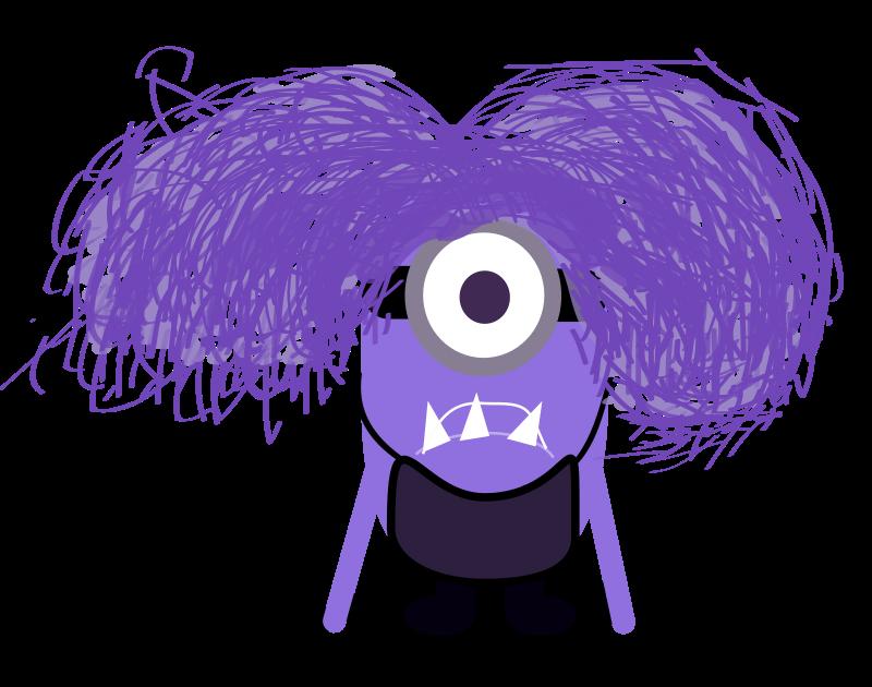 Free Clipart: Purple Minion.