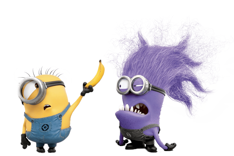 Purple Minion transparent PNG.