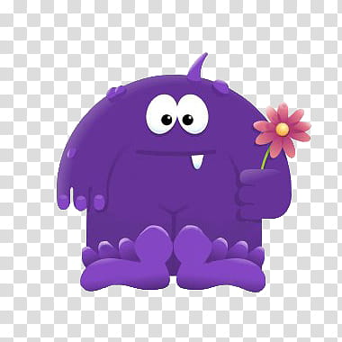 Monsters, purple monster illustration transparent background.