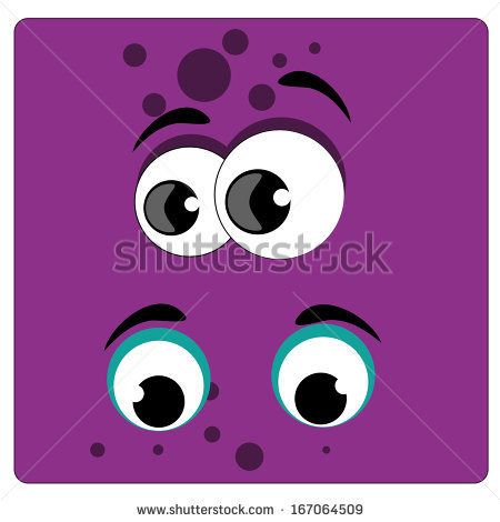 purple number two clipart with eyes #10