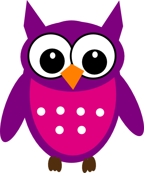 High Resolution Purple Owl Clipart.
