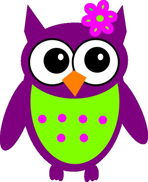 Purple Owl Clipart.