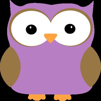 Purple Owl Clip Art.