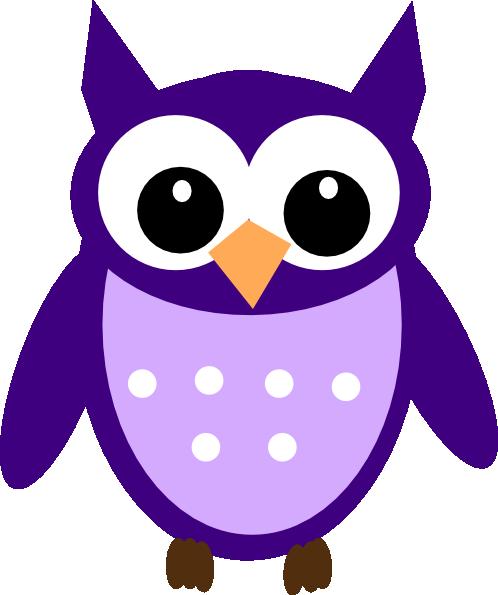 Dark Purple Owl Clip Art at Clker.com.