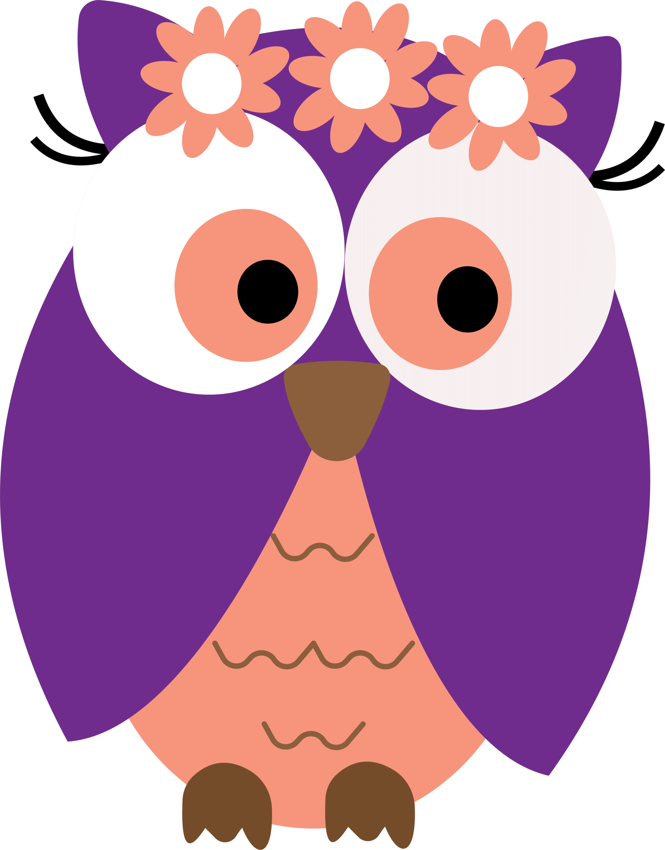 Purple owl clipart free clipart image 4.