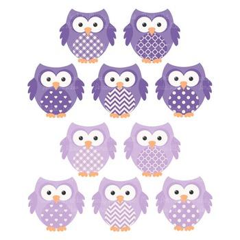 Purple Owl Clip Art Vectors & Papers.