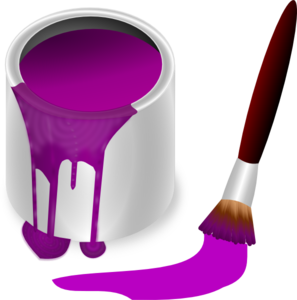 Purple Paint With Paint Brush Clip Art at Clker.com.