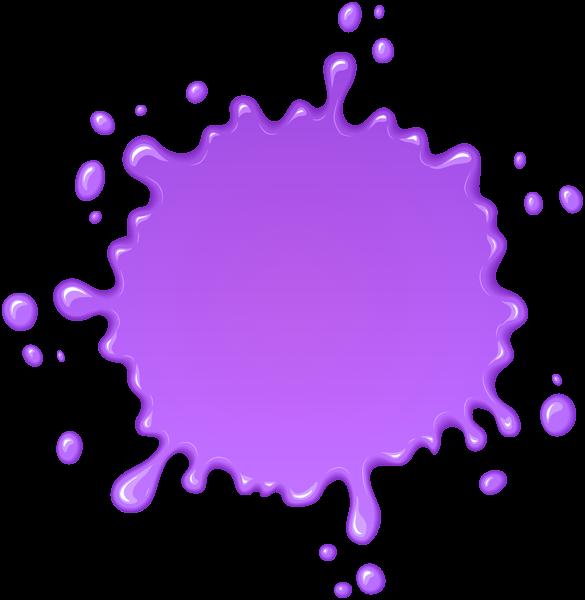 Purple Paint Splatter Transparent Clip Art.