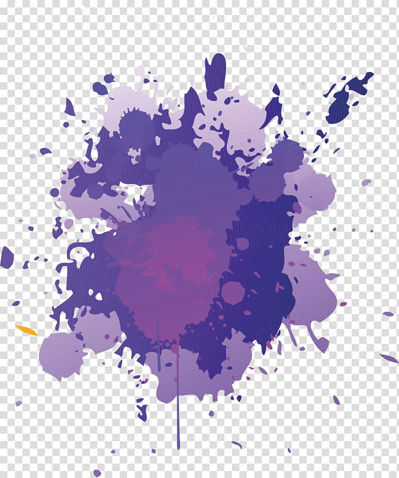 Purple paint splatter , Painting , purple transparent.