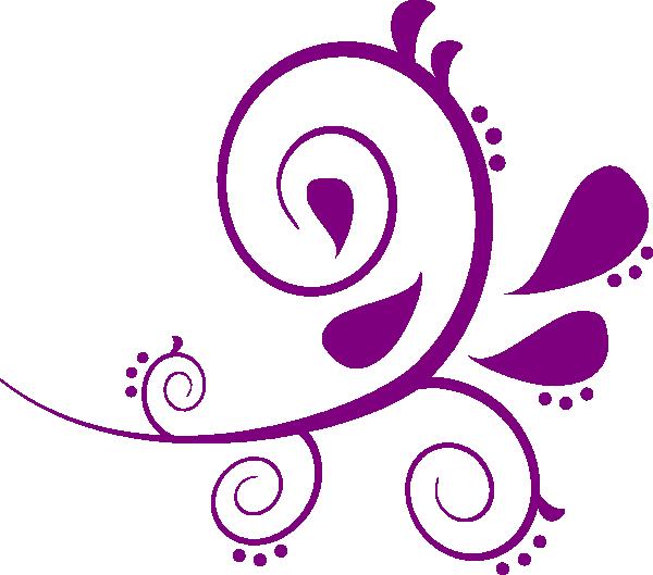 Purple Paisley Clipart Clip Art at Clker.com.