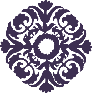 Dark Purple Paisley Flower PNG, SVG Clip art for Web.