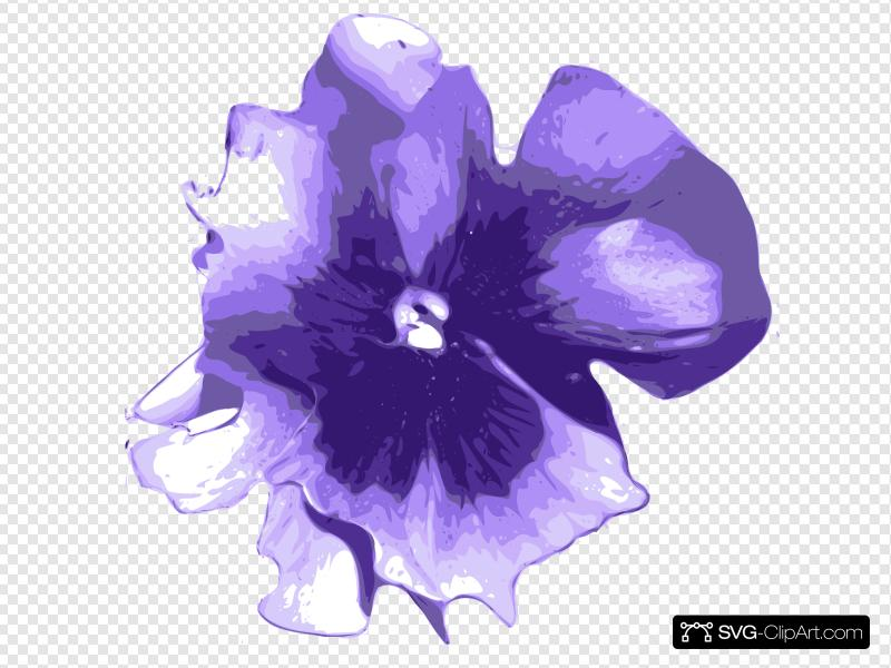 Purple Pansy Clip art, Icon and SVG.