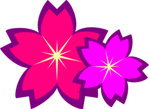 Purple Flowers Clip Art at Clker.com.