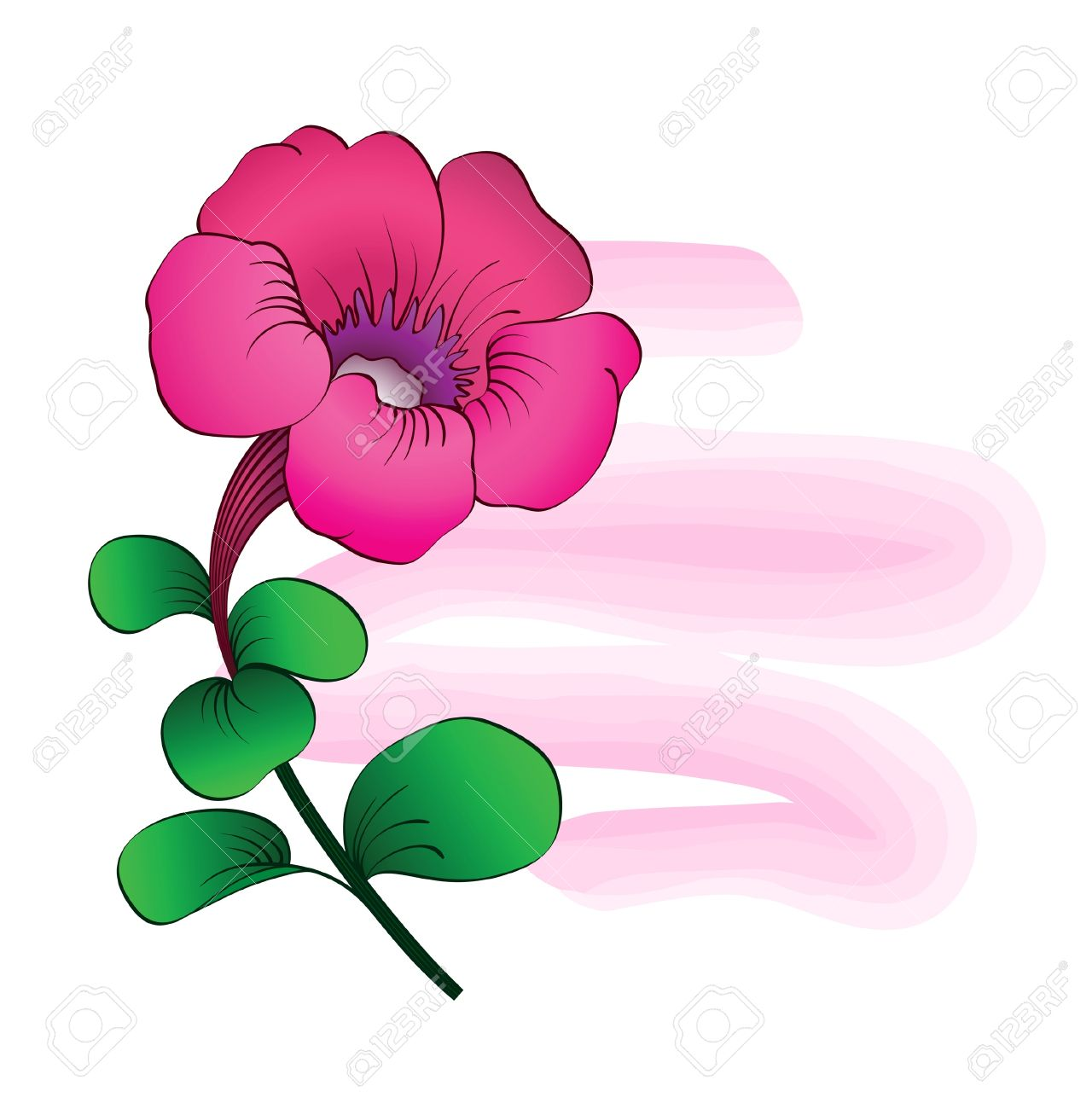 Pink Petunia, Floral Summer Backgound Royalty Free Cliparts.