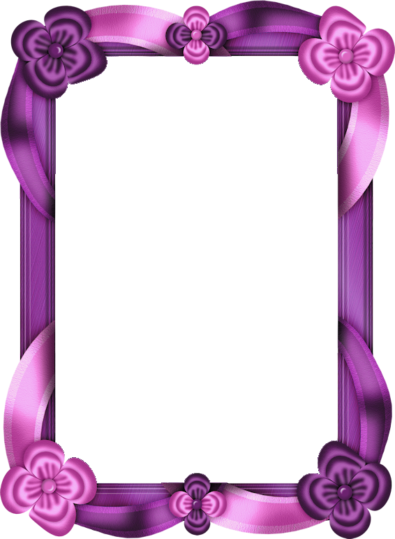 Purple and Pink Transparent Photo Frame.