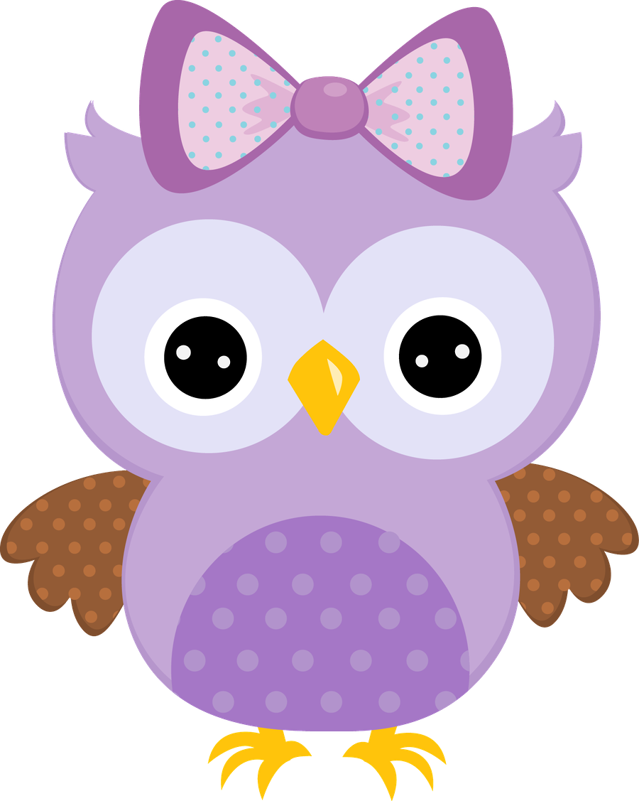 Girly Owl Cartoon.
