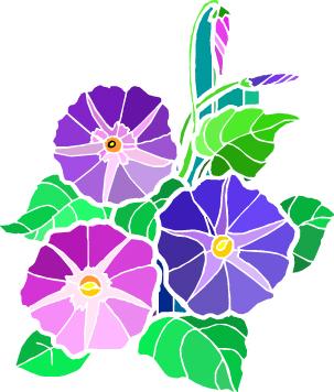 Purple Flowers Clipart.