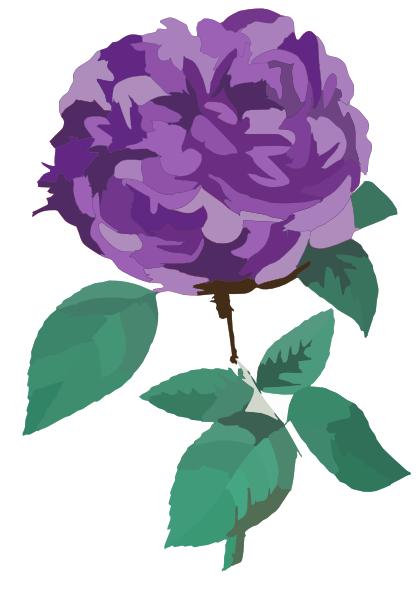 Purple Flower Clip Art at Clker.com.