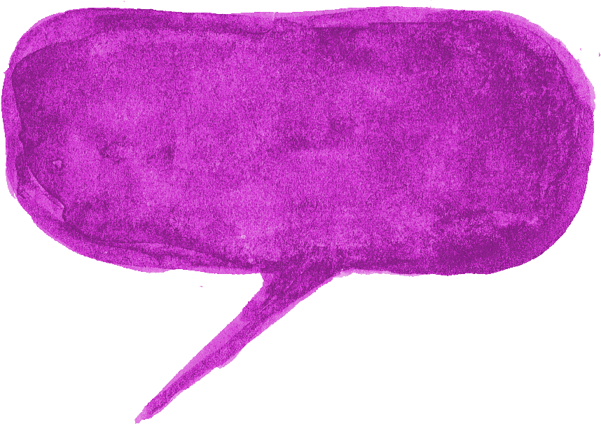 7 Purple Watercolor Speech Bubble (PNG Transparent.