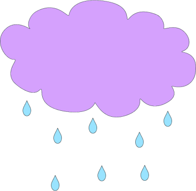 Purple Rain Cloud Clip Art.