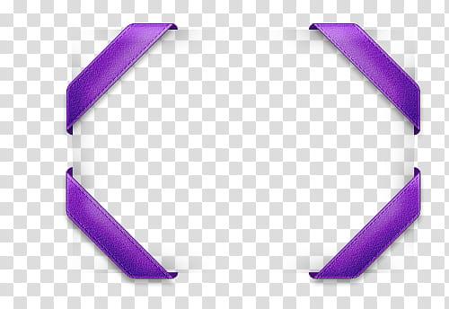 Purple ribbon border transparent background PNG clipart.