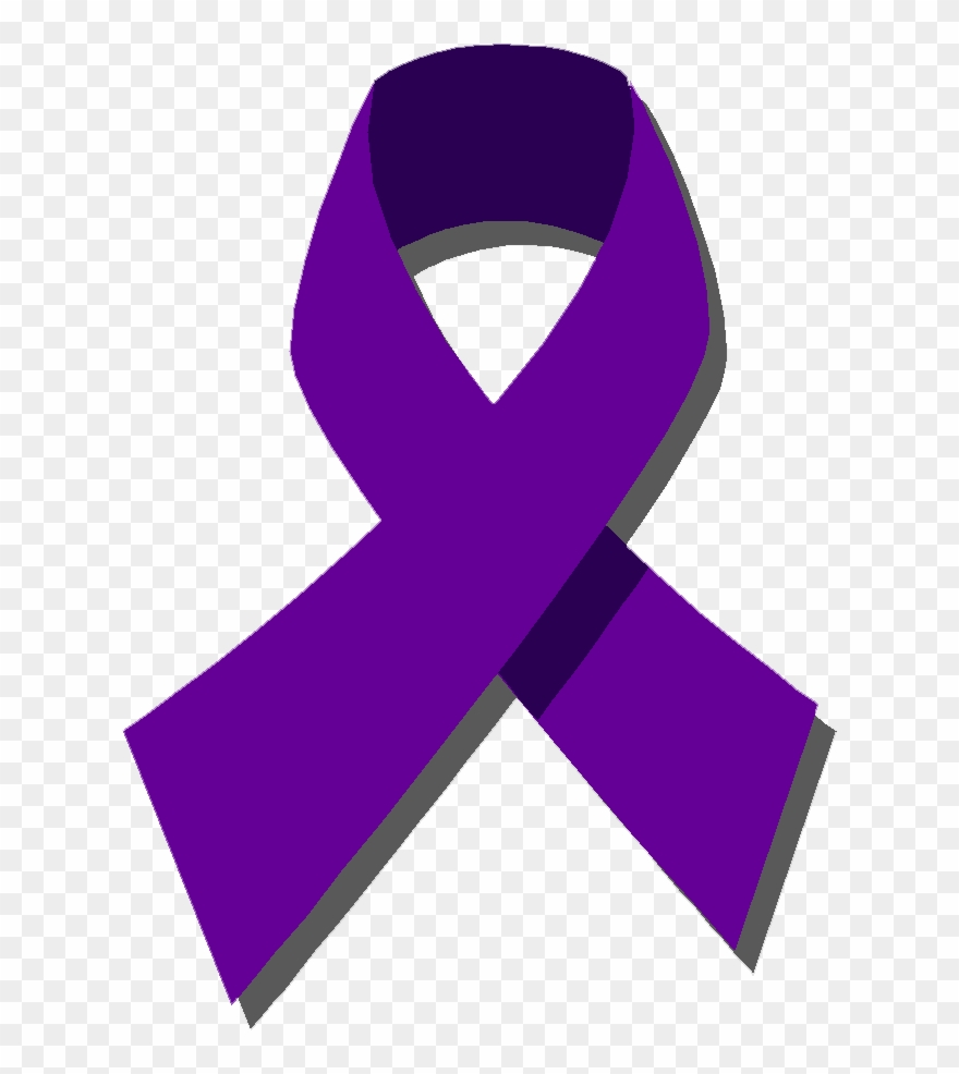 Purple Ribbon For Cancer.
