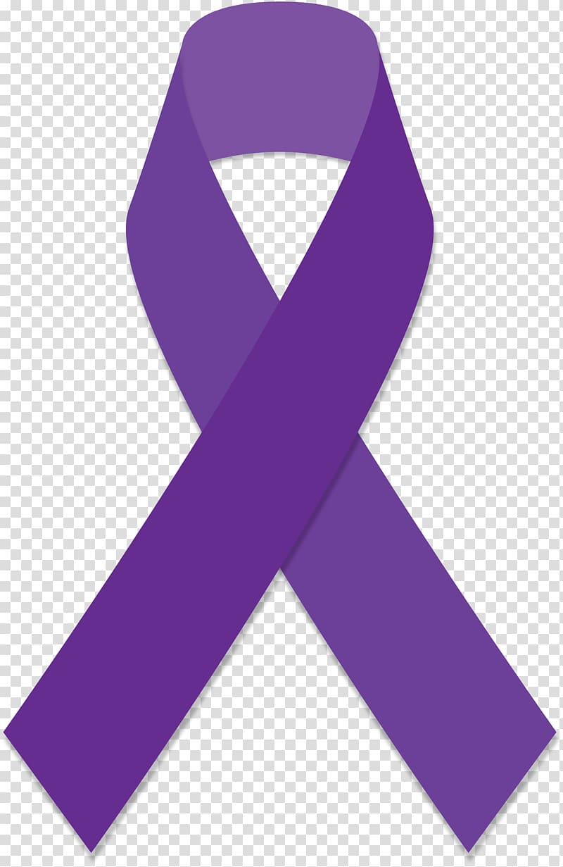 Purple ribbon illustration, Purple ribbon Awareness ribbon.