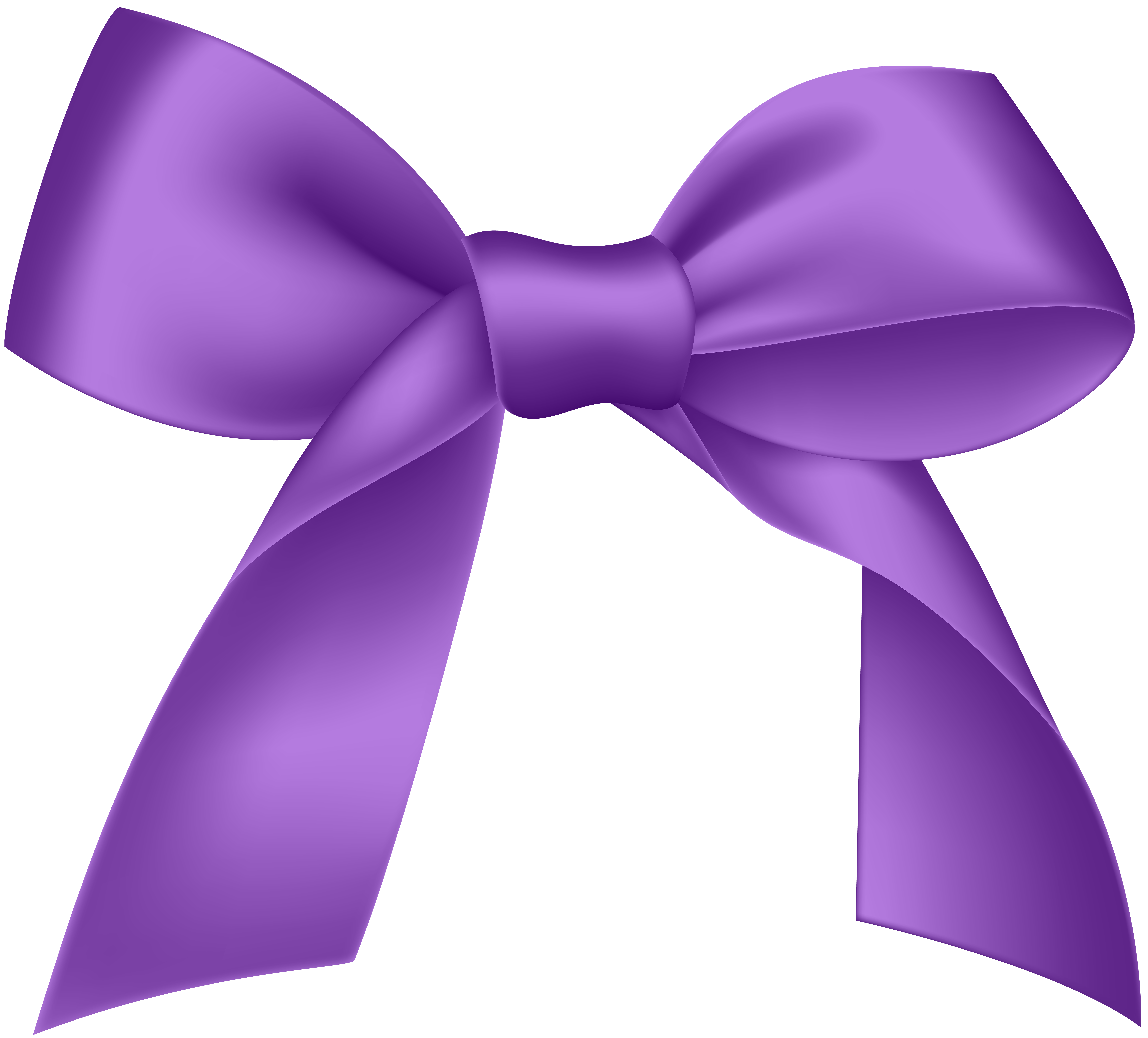 Purple Bow PNG Image.