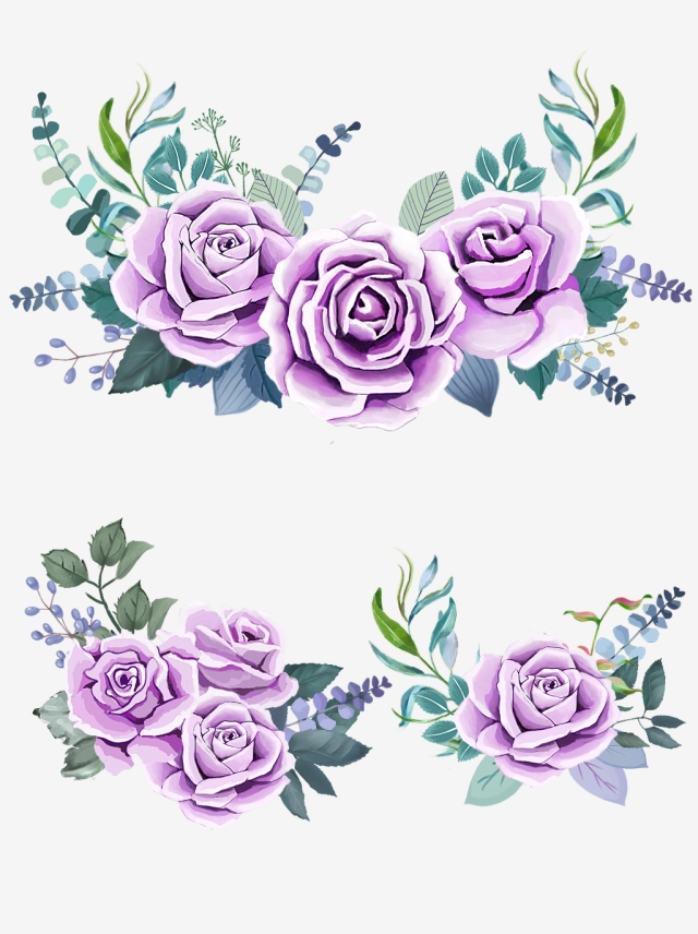Purple Rose Png, Vector, PSD, and Clipart With Transparent.
