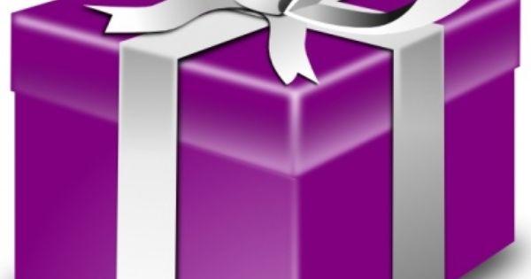 purple presents.