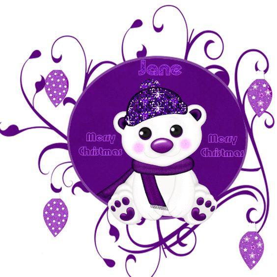 glitter graphics purple.
