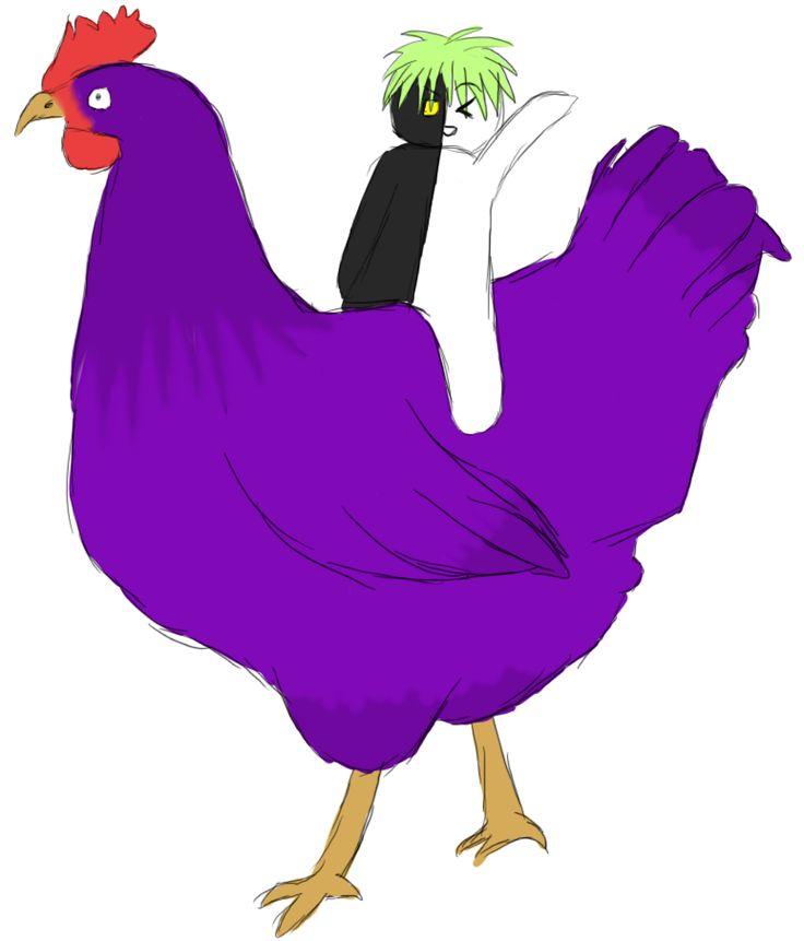 purple chicken.