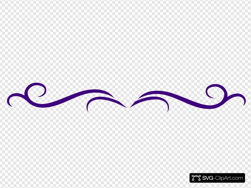 Dark Purple Scroll Clip art, Icon and SVG.